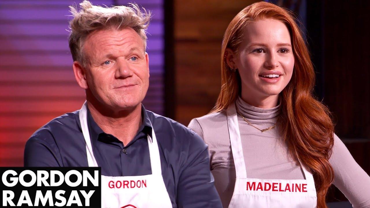Gordon Ramsay vs Madelaine Petsch In VEGAN MASTERCHEF COOK OFF!