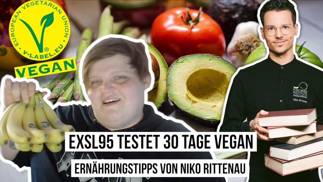 Exsl95 testet 30 Tage vegan • Ernährungstipps von Niko Rittenau