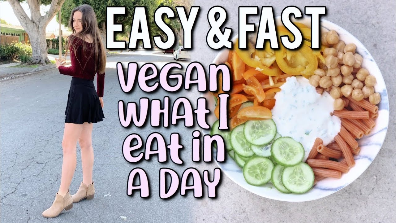 vegan teen what i eat in a day (EASY + FAST)❀